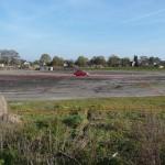 Grobe Grundstücksmarkierung von dem Feld aus