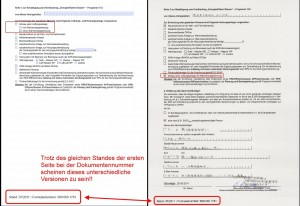 Vergleich der Seite 3 aus KFW Formular 600 000 1781