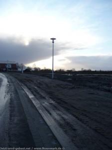 2011-12-10 Laternen wurden aufgebaut