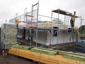 2012-07-09 Gerüst und Material wurden geliefert