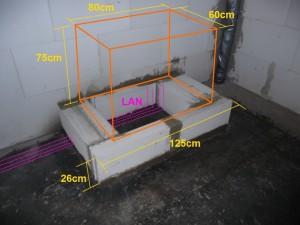 2012-08-18 Serverschrankfundament vorbereiten mit Konzept