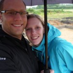 Maike und Andreas im Regen