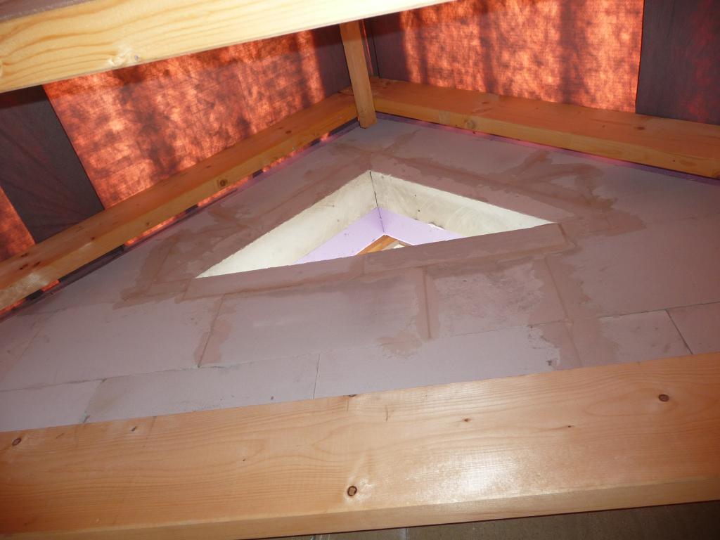 Vorbereitung für das Dreiecksfenster, andere Seite