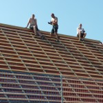 Dachdecker in der Hitze