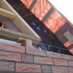 Vorbereitung für Dreiecksfenster im Spitzboden auf der Westseite