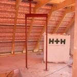 Stahlträger (laut Statik) im OG: Hier Tür ins Badezimmer