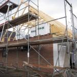 Haus mit Dachstuhl
