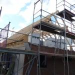 Der Dachstuhl ist gerichtet