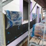 Am 11.07.2012 wurde die Westwand für den Verblender vorbereitet