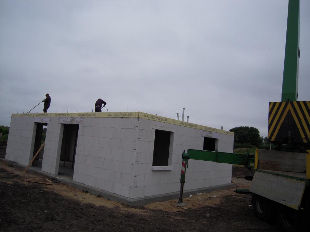 Beton wird verteilt