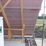 Delta-Folie auf dem Dach