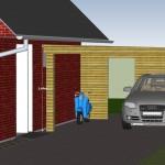 Aktuelle Carport-Planung (Google Sketchup Rendering)