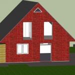 Haus Rückseite (Google Sketchup Rendering)