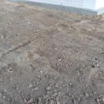 Der befestigte Boden der Auffahrt