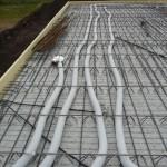 Dach über dem Wohn- und Essbereich