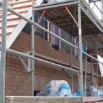 Der Verblender an der Ostseite am 20.07.2012