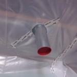 Dampfbremsbahn mit Lüftungsrohr