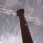 Dampfbremsbahn mit Stahlträger