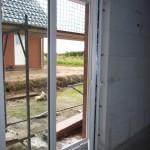 Terrassentür einseitig geöffnet