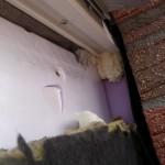 Dämmungen, außen an den Dreiecksfenstern: Hier sieht's ganz OK aus