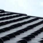 Firstpfannen auf dem Dach