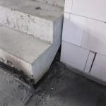 Schweißbahnen erste Treppenstufe