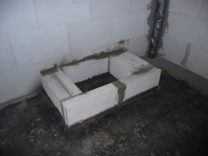 Fertig ist das Fundament auf dem Rohfußboden