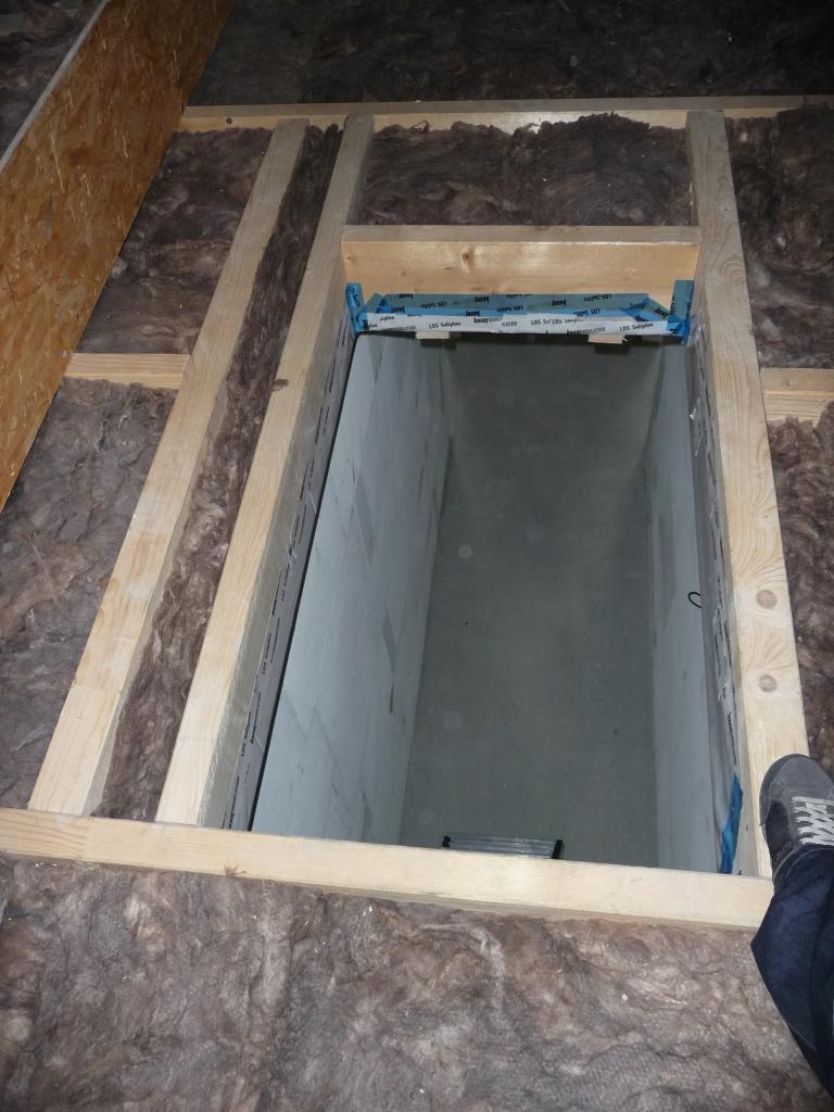 Versetzter Dachbodenaufgang - gefällt mir eigentlich, ist gut gemacht