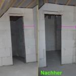 Ankleidezimmer-Tür im Vorher-Nachher-Vergleich