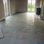 Wohn- und Essebereich ist bereit für die Fußbodenheizung
