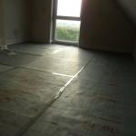 Kinderzimmer 2 ist bereit für die Fußbodenheizung