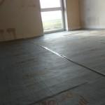Kinderzimmer 1 ist bereit für die Fußbodenheizung