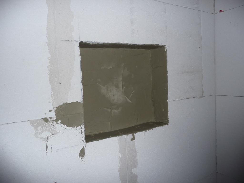 Dach zugespachtelte Duschfach
