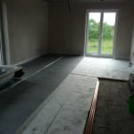 Fussbodendämmung im Wohnzimmer (25.09.2012)