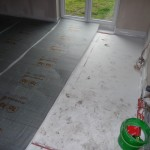 Fußbodendämmung im Wohnzimmer (26.09.2012)