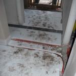 Fußbodendämmung im Flur (26.09.2012)