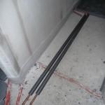 Zuleitungsrohre für die Fußbodenheizung wurden im OG verlegt (26.09.2012)