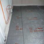 Fußbodendämmung im Schlafzimmer (26.09.2012)