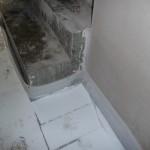 Fußbodendämmung an der Treppe (26.09.2012)