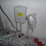Elektrokasten angebaut und Telefon vorbereitet (12.09.2012)