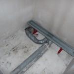 Duschrinne im EG im Gäste-WC ist installiert