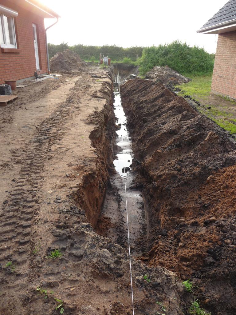 Tiefer ausgehobener Graben am 28.09.2012