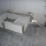 Löcher für die Fußbodenheizung