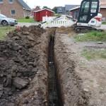 Tiefbauarbeiten für den Wasseranschluss