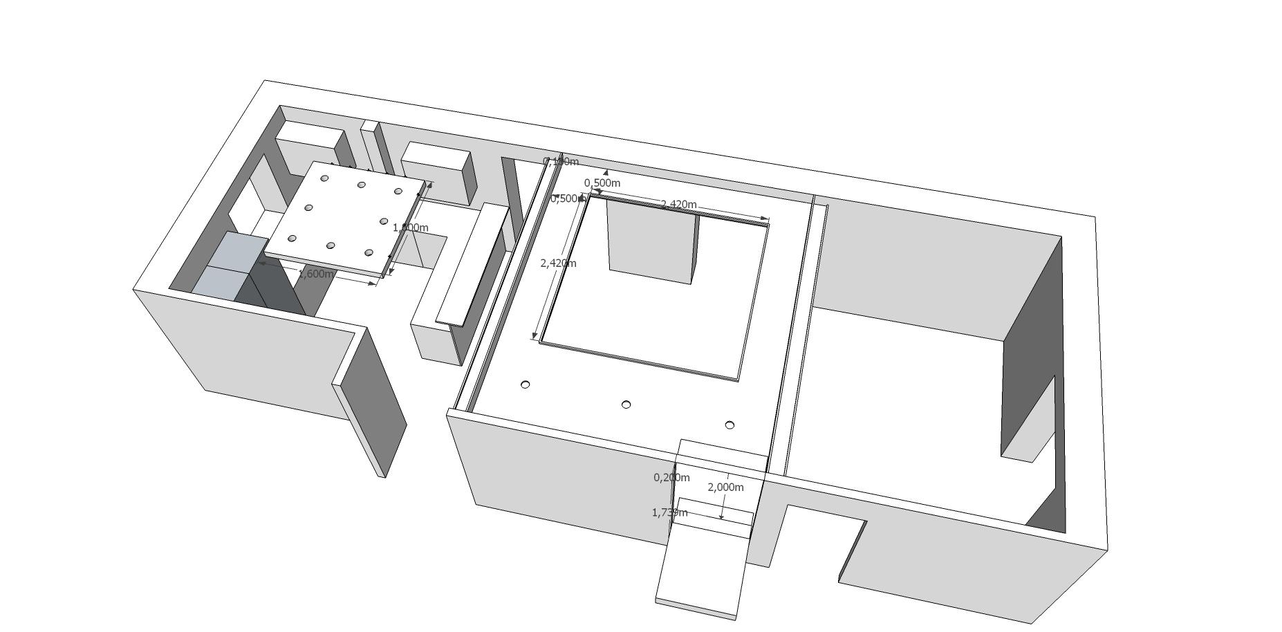 Konzept abgehängte Decke v0.2 - Nun mit symmetrischem Viereck
