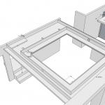 Konzept abgehängte Decke v0.3 - Nun mit gleichem passiven Reflektionsrahmen und Lautsprecherlöchern