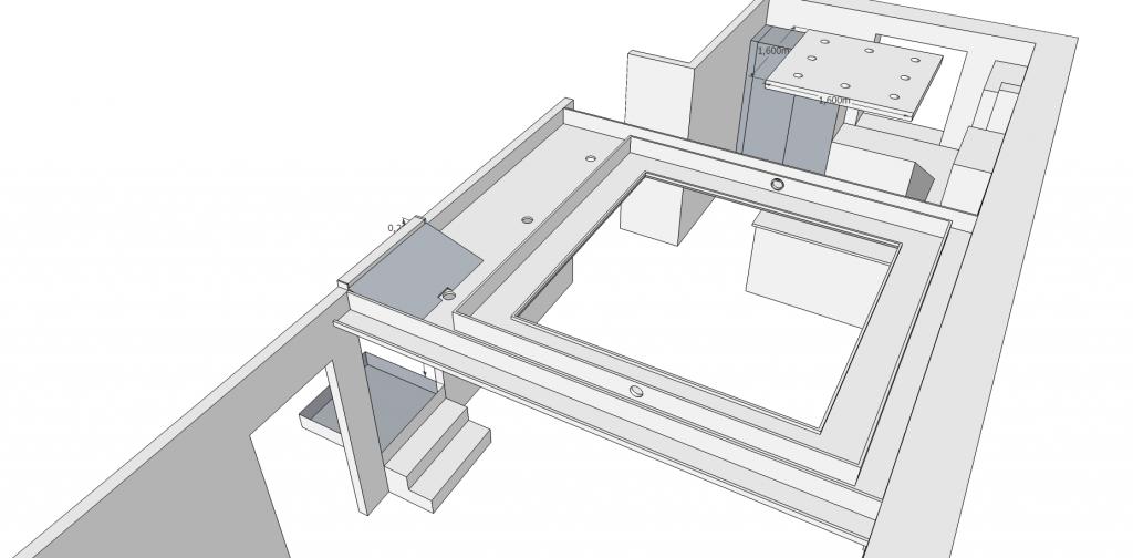 konzept abgeh ngte decke v0 4 nun mit schr ge zum treppenaufgang jetzt wird gebaut bautagebuch. Black Bedroom Furniture Sets. Home Design Ideas