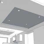 Konzept abgehängte Decke v0.5 - Nun mit Spots im Inneren und alles nochmal 5cm tiefer