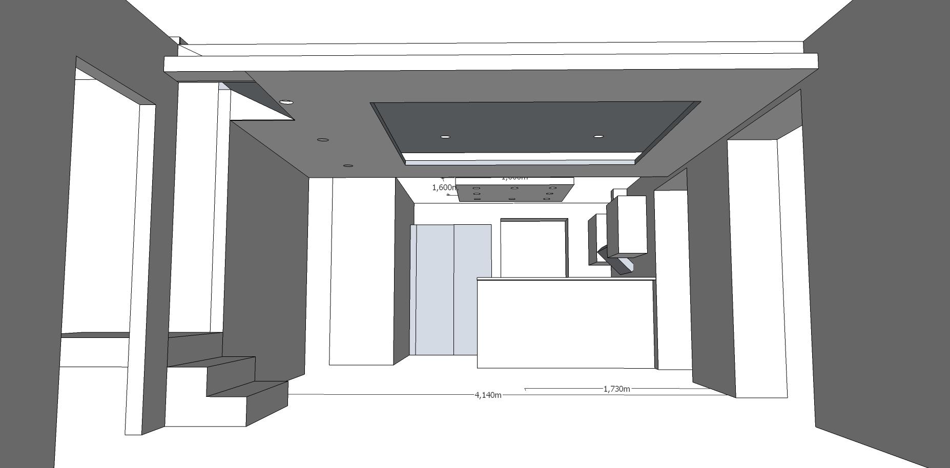 Konzept abgehängte Decke v0.5 – Nun mit Spots im Inneren und alles ...