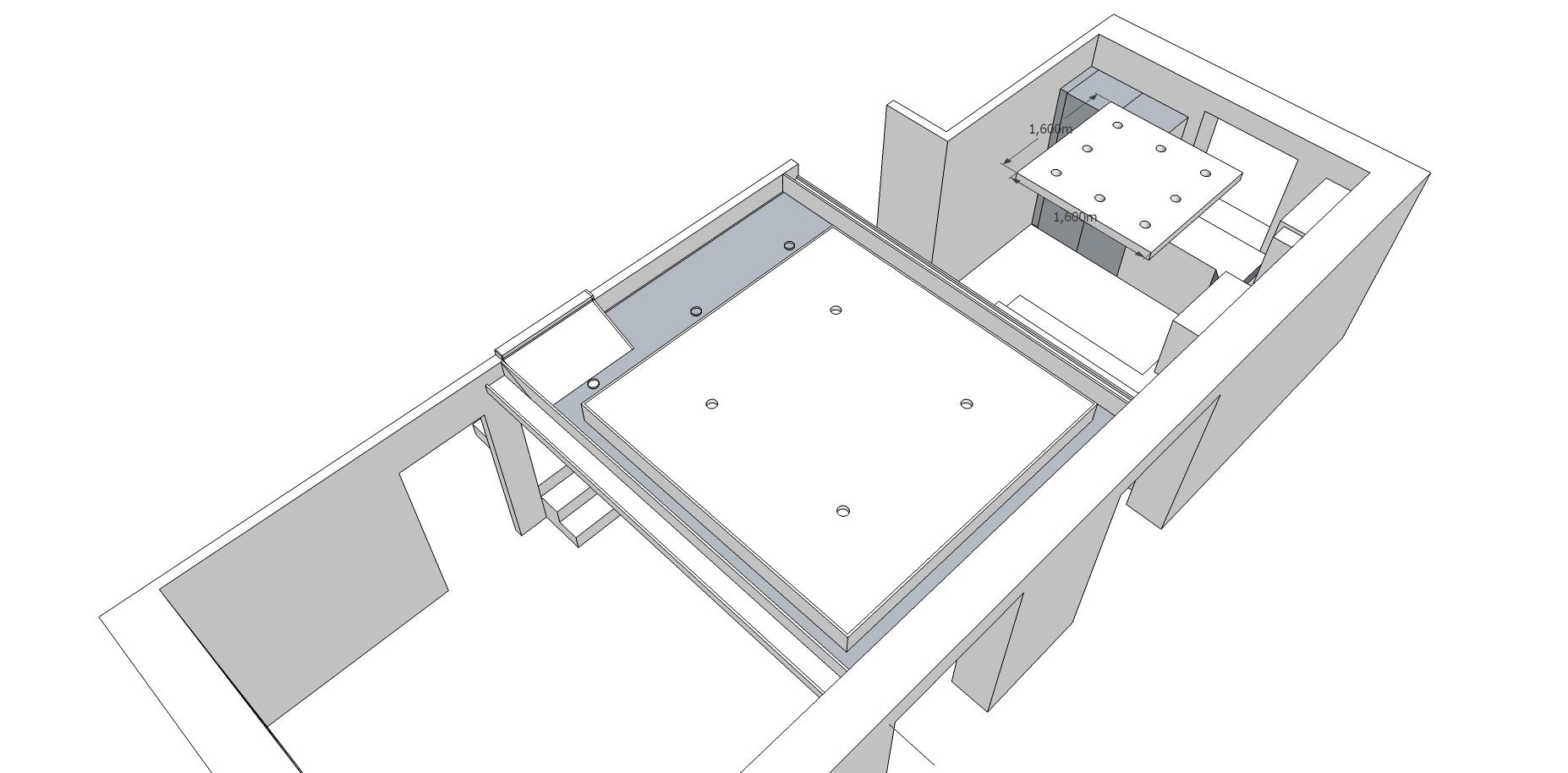 konzept abgeh ngte decke v0 5 blick von oben jetzt wird gebaut bautagebuch. Black Bedroom Furniture Sets. Home Design Ideas